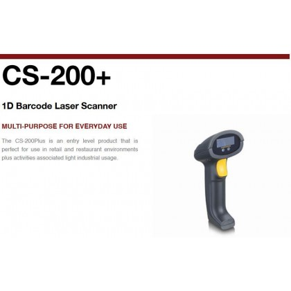 Code Soft CS200+ 1D Barcode Laser Scanner (USB) New Model