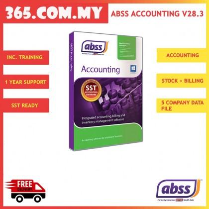 ABSS (MYOB) Accounting Version 28.3 Single User Software ~ FREE SHIPPING  + FREE BITDEFENDER INTERNET SECURITY
