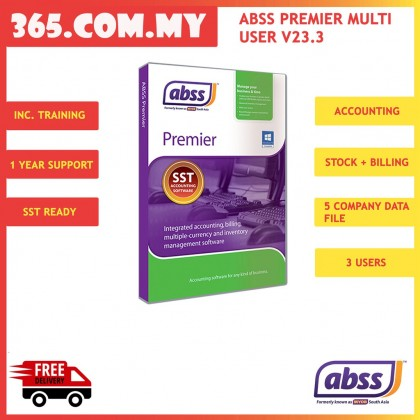 ABSS (MYOB) Premier Version 23.3 Multi-User Software ~ FREE SHIPPING  + FREE BITDEFENDER INTERNET SECURITY