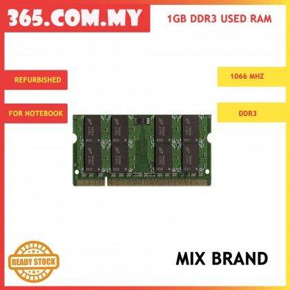 DDR3 1GB 1066Mhz Notebook RAM (Used)